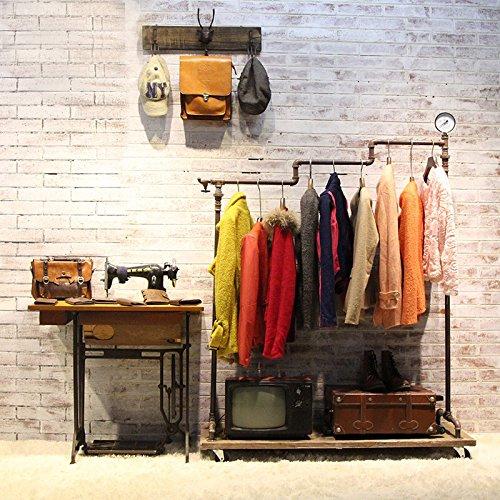 WGX Pipe Ballet Rack Rolling Garment Clothing Rack Industrial Pipe Clothing Rack Storage Clothing Display Rack