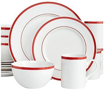 Gorham Bistro Dinner Set - Red  sc 1 st  Amazon.com & Amazon.com | Gorham Bistro Dinner Set - Red: Dinner Plates