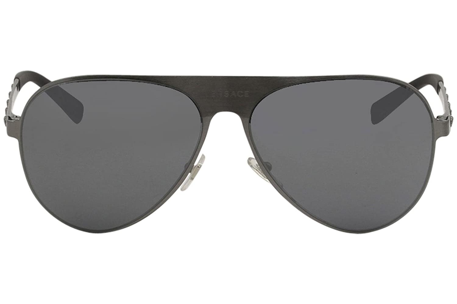 42475922e4c6f Versace Unisex VE2189 Brushed Gunmetal Grey Mirror Black One Size   Amazon.in  Clothing   Accessories