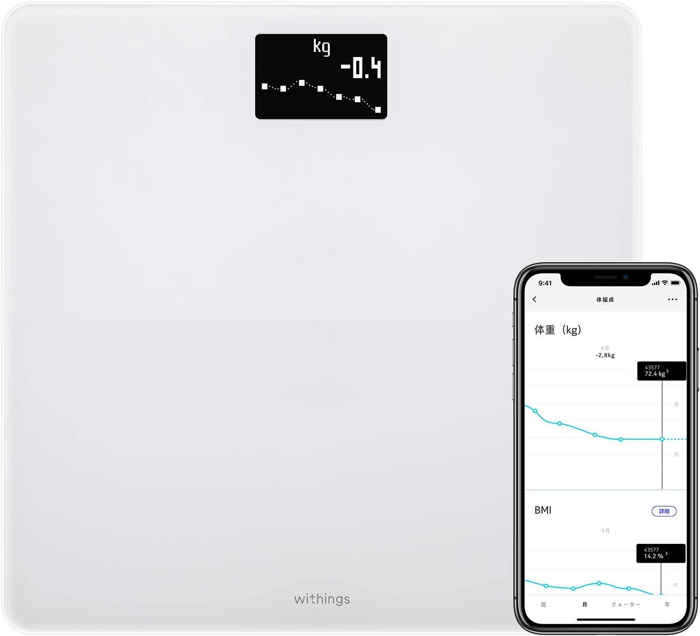 Withings Body WBS06-WHITE-ALL-JP