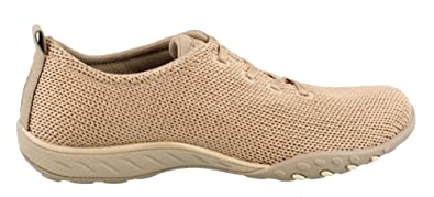 Skechers Relaxed Fit Breathe Easy Serendipity Womens Slip On Sneakers Taupe  6