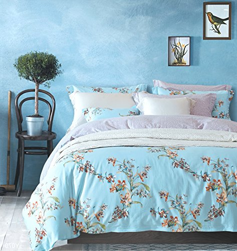 light blue and coral bedding - 7