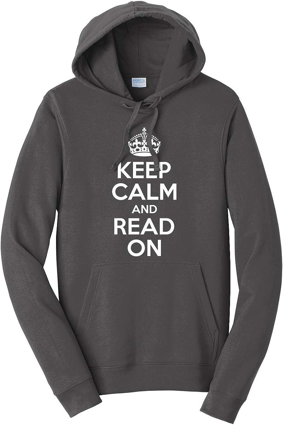 Tenacitee Unisex Keep Calm and Read On Hooded Sweatshirt