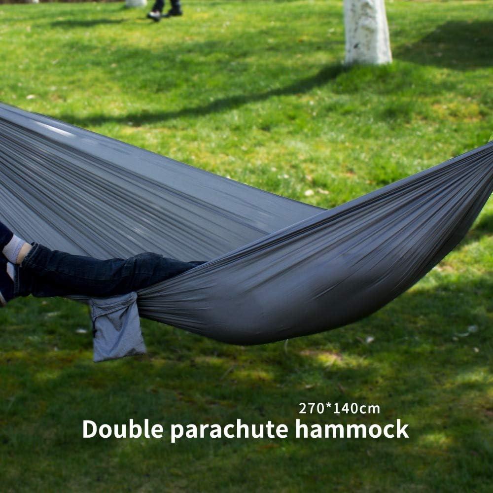 140 cm,2 Personen H/ängematte Nylon Fallschirm f/ür Outdoor Backpacker Camping Garten und Reisen Outdoor Hammock 300KG Tragkraft 270 Ti-Fa H/ängematte Reiseh/ängematte Ultraleicht Atmungsaktiver