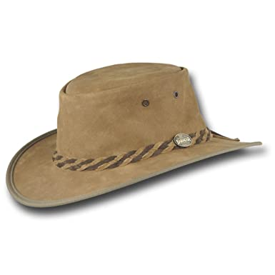 Barmah Hats Packable Vagabond Leather Hat - 1070HI at Amazon Men s ... e0742e1176e