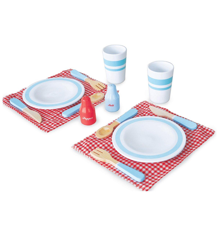 Kochgeschirr Kinderküche Holz - Indigo Jamm Esstisch Set für Zwei