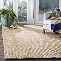 Safavieh Natural Fiber Collection NF401A Hand-Woven Basketweave Natural Jute Area Rug (3 x 5)