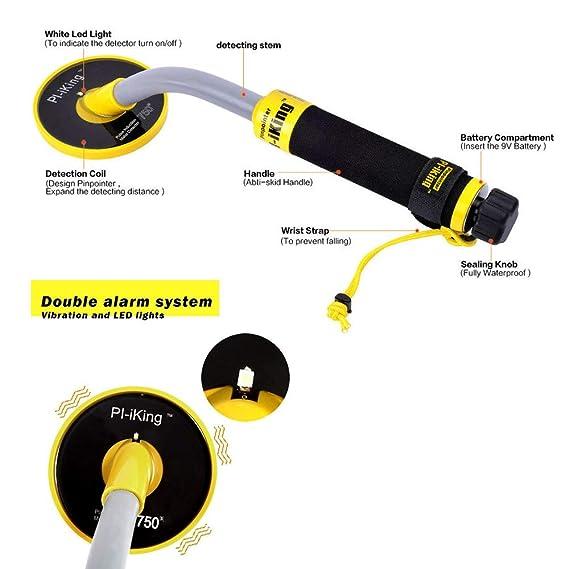 TOPQSC 750 - Detector de Metales bajo el Agua con indicador de Vibraci¡§n y detecci¡§n LCD, 30 m, Detector de Metal de Caza Resistente al Agua con ...