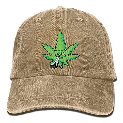 NaNa-Home-Smoking-Marijuana-Stylish-Denim-Baseball-Adjustable-Caps-Hats