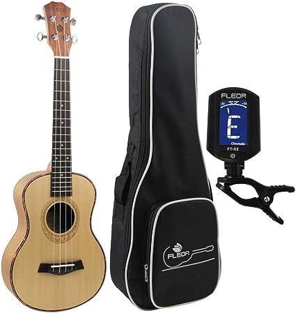 Ukelele tenor de 26 pulgadas, guitarra de viaje, madera de abeto ...