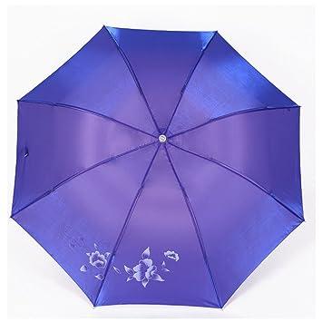krwhts plegable paraguas mágico flores flor en agua de lluvia moda exquisita resistente al viento parasol