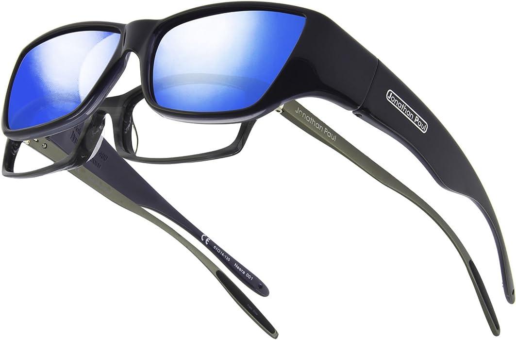 247e6d54a1 Amazon.com  Neera JP Fitovers - Midnite Oil - Blue Mirror Lens (NR001BM)   Clothing