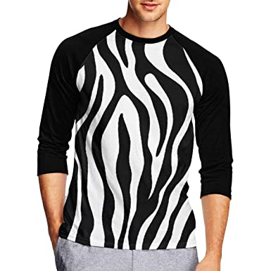 98433aac Westfinz Black and White Zebra Print Mens Baseball Raglan T Shirts, 3/4  Sleeves Casual Athletic Baseball Jersey | Amazon.com