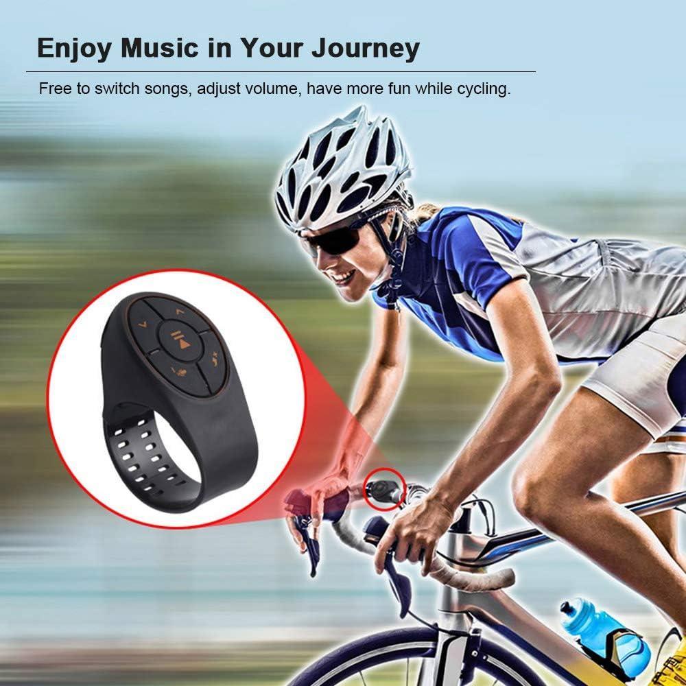 Gamogo Control Remoto inal/ámbrico Bluetooth BLE Bot/ón de Medios Operaci/ón con una Sola Mano con Correa Adecuado para Volante Moto Bicicleta Manillar Obturador Remoto para Dispositivos iOS con Android