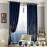 Blackout Curtain Printed Mediterranean Castle Finished Cloth Blind Grommet Top For Living Room Kid's Study Bedroom Kitchen Black Thread Inside Window Treatments, WINYY 1 Panel W75 x H84 inch For Sale