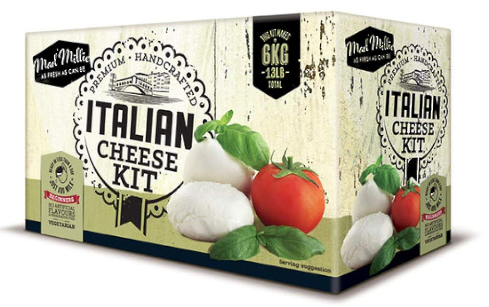 Mad Millie - Kit de Regalo Crea Tu Propio Queso Italiano Sólo Agrega Leche