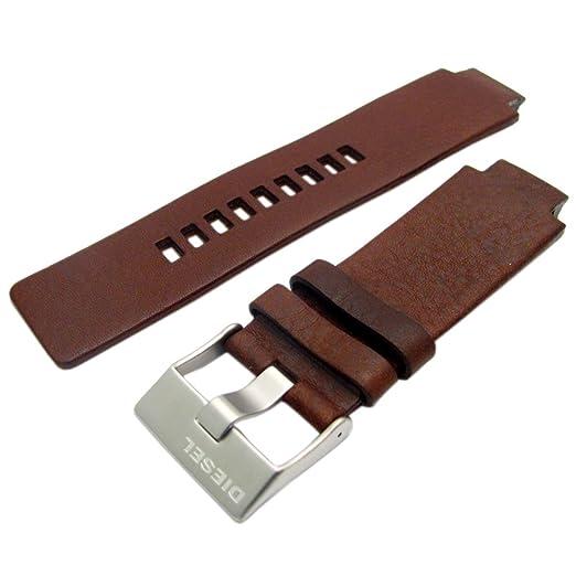 Diesel Genuine Original reloj hebilla de acero correa de piel S/para DZ1123: Amazon.es: Relojes