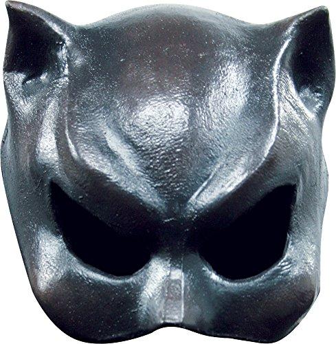 Girl Mask Cat Adult Half (Halloween Mask- Cat-Girl Latex Half Costume Mask -Scary)