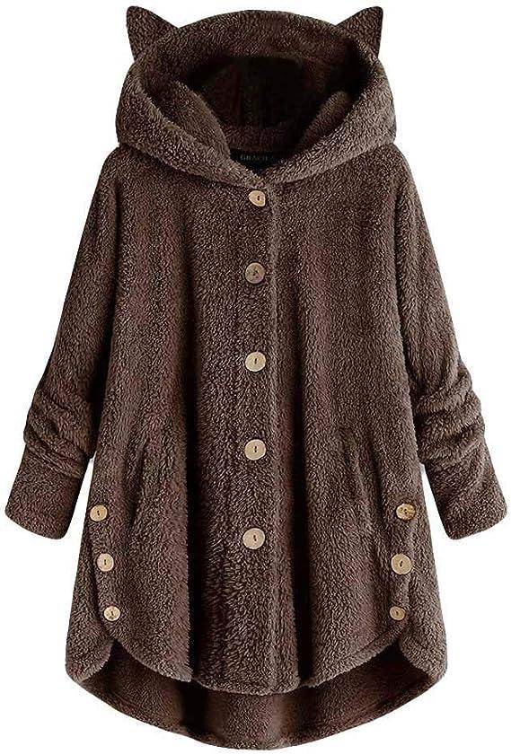 Sweatshirt Hiver À Taille Femme Grande En Cachemire Veste Pas Cher Cat Polaire Sweat Jacket Capuche Hoodies Chaud Morchan Pull Pullover OPiXukZ