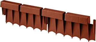 product image for Suncast Interlocking No Dig Border Edging - Brick - Resin Construction for Garden, Lawn, and Landscape Edging - Water Resistant Border for Containing Trees, Flower Beds and Walkways