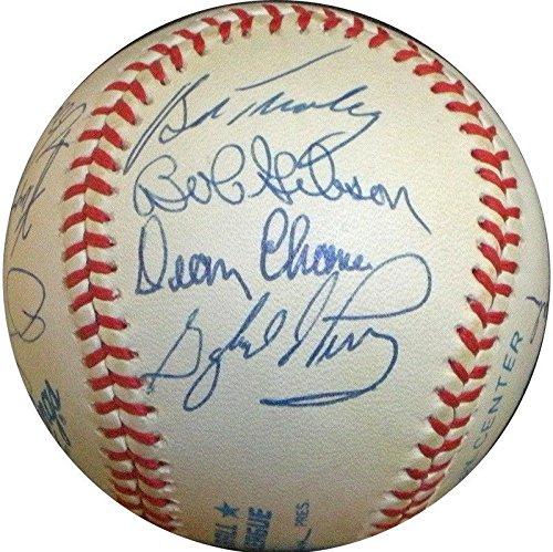 Cy Young Award Multi Signed Baseball 12 Sigs Catfish Hunter Bob Gibson - PSA/DNA Certified - Autographed Baseballs