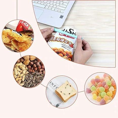 ZSWQ Pinzas de Plástico 48 Unids Clips de Cierre de Plástico Pinzas de Cierre Cerrar Bolsas Colorear Clips de Sellado para Alimentos Aperitivos Cocina