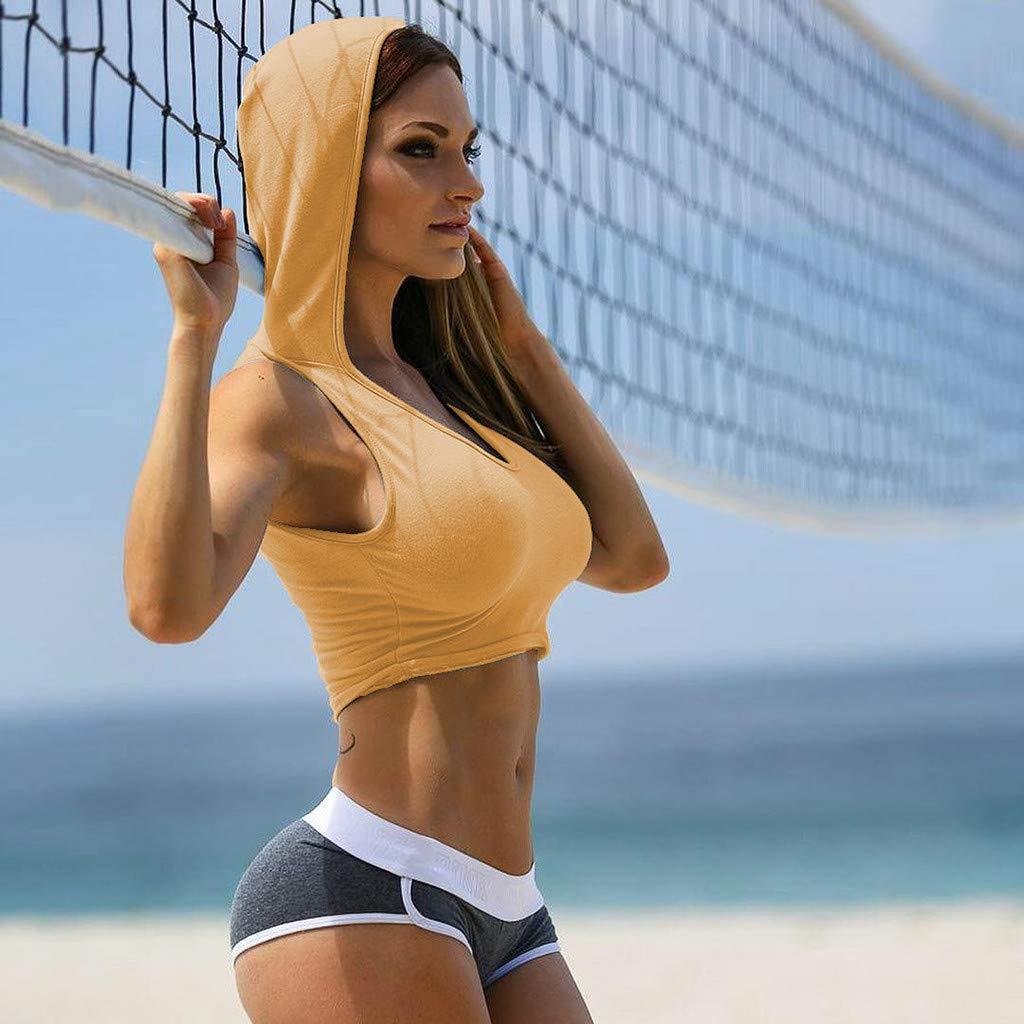 Women U-Neck Sports Wear Fitness Crop-top Healthy Vest Top