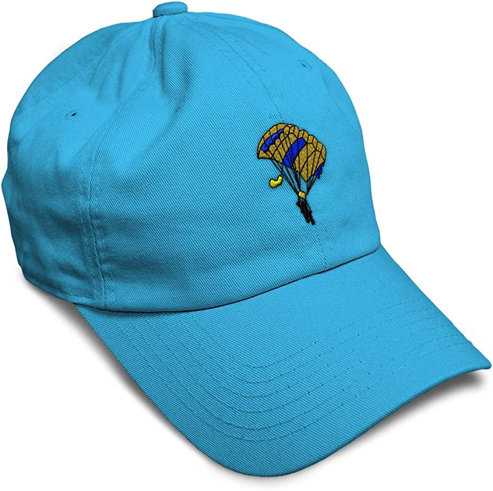 Custom Soft Baseball Cap Parachute Embroidery Dad Hats for Men /& Women