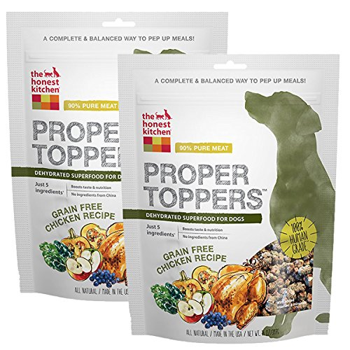 Honest Kitchen The Human Grade Dehydrated Grain Free Dog Food Topper, Free Range Chicken, 28 oz -