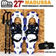 """New MTN 27"""" All Terrain Snowshoes + Nordic Pole + Free Carrying Bag"""