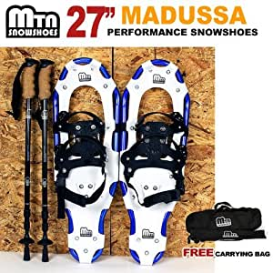 "New MTN 27"" All Terrain Snowshoes + Nordic Pole + Free Carrying Bag"