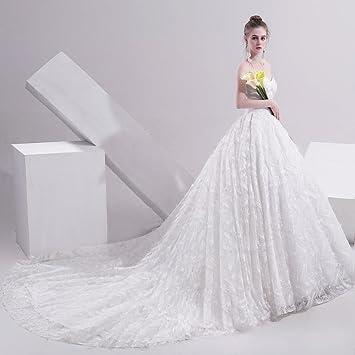cf158d1045b Wedding Dress Bride Tail Tube top Simple Princess Sen Dream Thin SLR ...