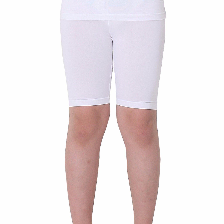 Kids Compression Shorts Underwear Youth Boys Spandex Base Layer Bottom Pants FK White M