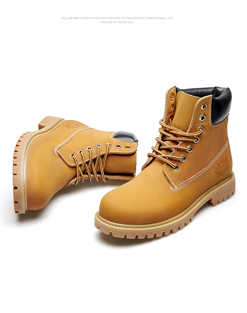 Super frist Mens Casual Fashion Work Boots Waterproof wear-Resistant Non-Slip Martin Boots