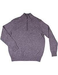 Calvin Klein Quarter Zip Long Sleeve Knit Sweater for Men