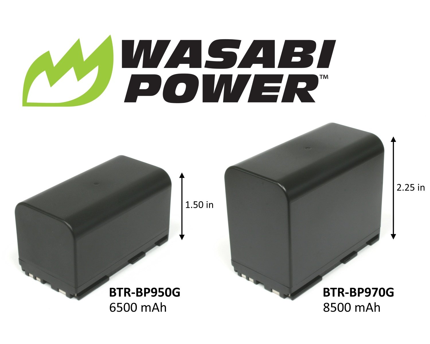 Wasabi Power Battery for Canon BP-970G, BP-975 and Canon EOS C100, EOS C100 Mark II, EOS C300, EOS C300 PL, EOS C500, EOS C500 PL, GL2, XF100, XF105, XF200, XF205, XF300, XF305, XH A1S, XH G1S, XL H1A, XL H1S, XL2 (8500mAh) by Wasabi Power
