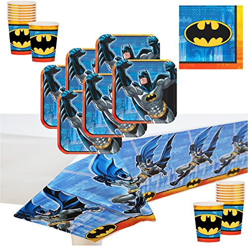 Batman Deluxe Party Supply Pack for 16 Guests. -