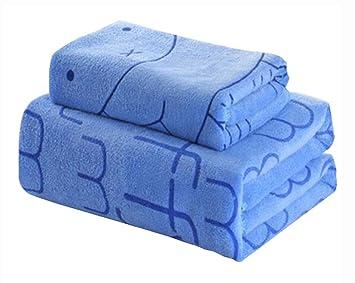 Juego de 2 toallas de baño absorbentes ligeras para el hogar Toallas deportivas, azules: Amazon.es: Deportes y aire libre