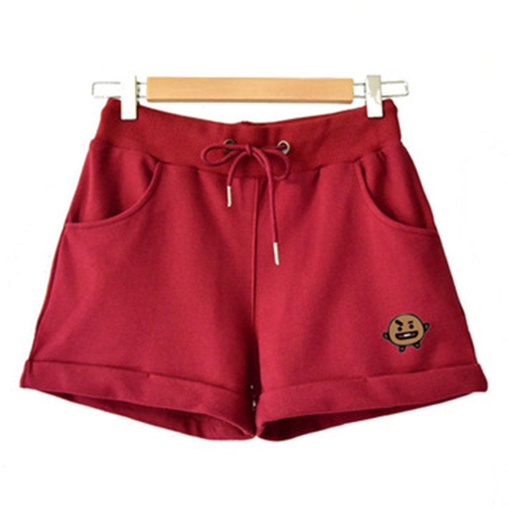 Unisex Kpop BTS BT21 Cartoon Short Pants Fans Pullover Hip Hop Short Pants for Men Women Teen