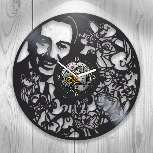 Vinyl Clock,Walt Disney, Wall Decor, Cartoon, Pop, Mickey Mouse, Handmade Gift, Unique Desig, Vintage Vinyl Record, Children's Room Decor, Gift Idea For Kids, Home Modern Art Decor
