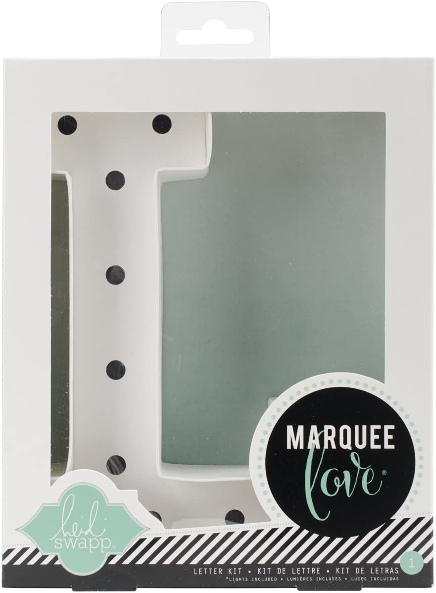 Heidi Swapp Marquee Love 8-inch Marquee Kit by American Crafts | Letter L | Includes DIY marquee letter, light strand, 11 clear lightbulbs, and tracing template