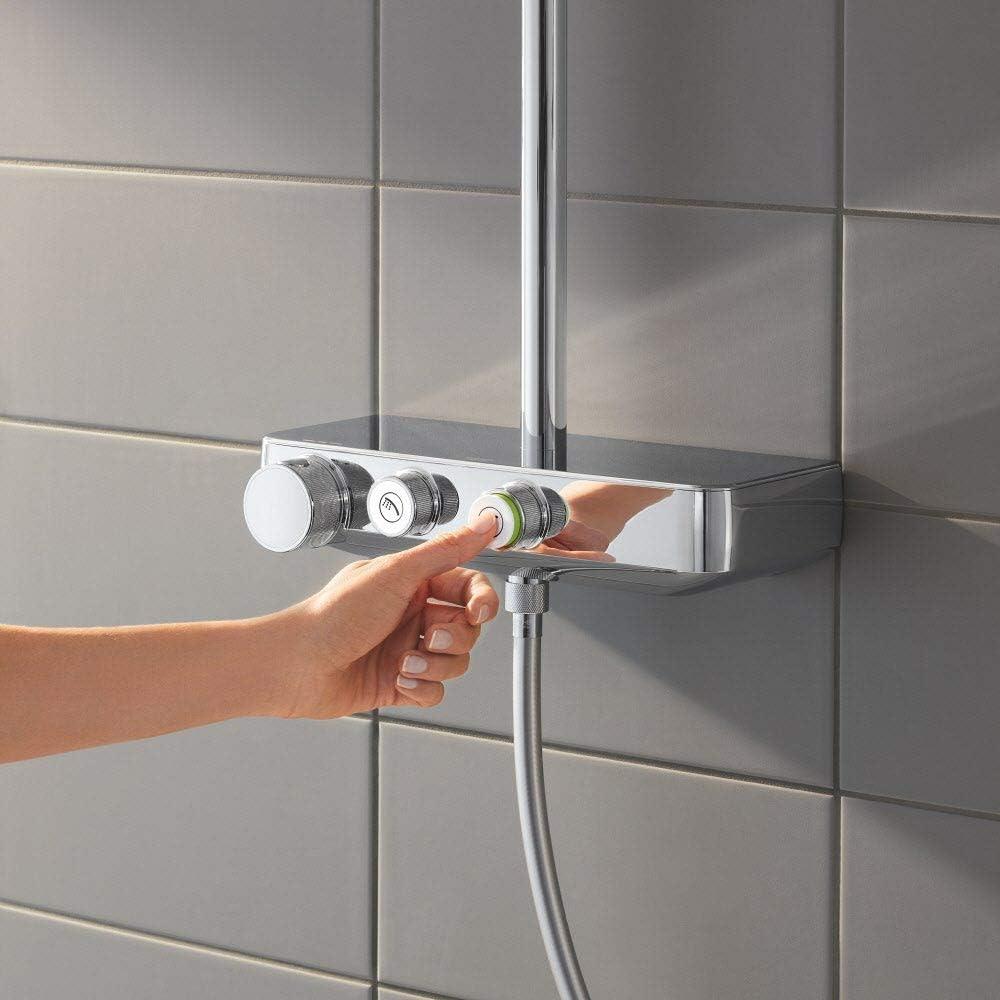 Grohe Euphoria SmartControl System 310 Cube Duo - Sistema de ducha con termostato incorporado, acabado cromado (Ref. 26508000): Amazon.es: Bricolaje y herramientas