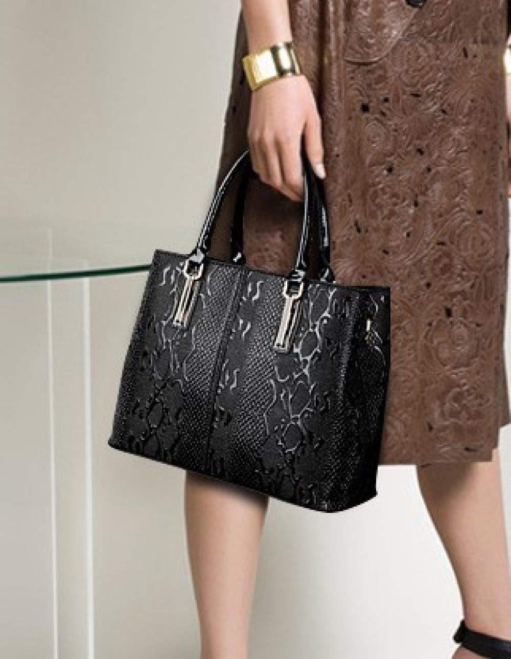 Damväska axelväska messengerväska handväska modeväska mode komfort läderväska Svart