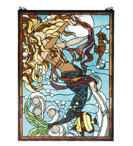 Meyda Tiffany 78086 Stained Glass Tiffany Window from the Seashore Collection, Tiffany ()