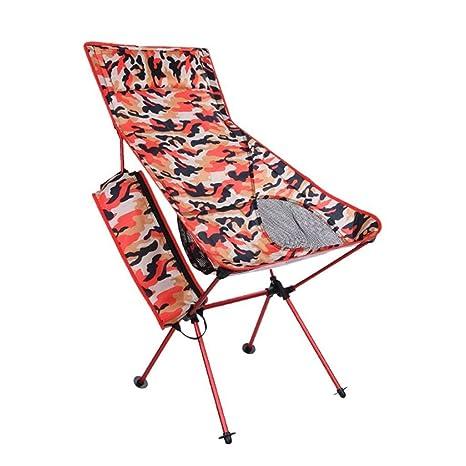 Amazon.com: Erosy Silla Portable, Aluminio, con Almohada ...