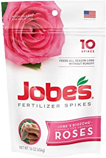 product image for Jobe's Rose Fertilizer Spikes, 10 Spikes