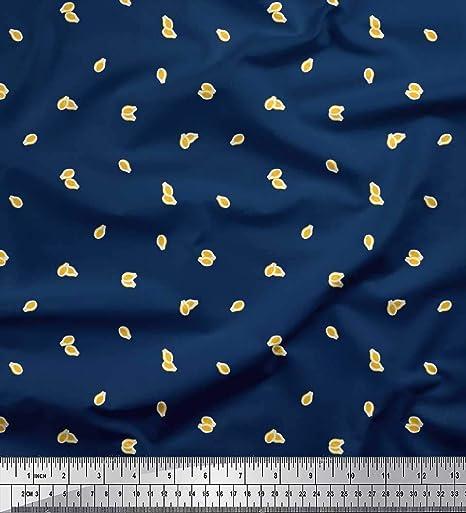Soimoi Azul batista de algodon Tela Aguacate tela de camisa tela estampada de por metro 42 Pulgadas de ancho: Amazon.es: Hogar