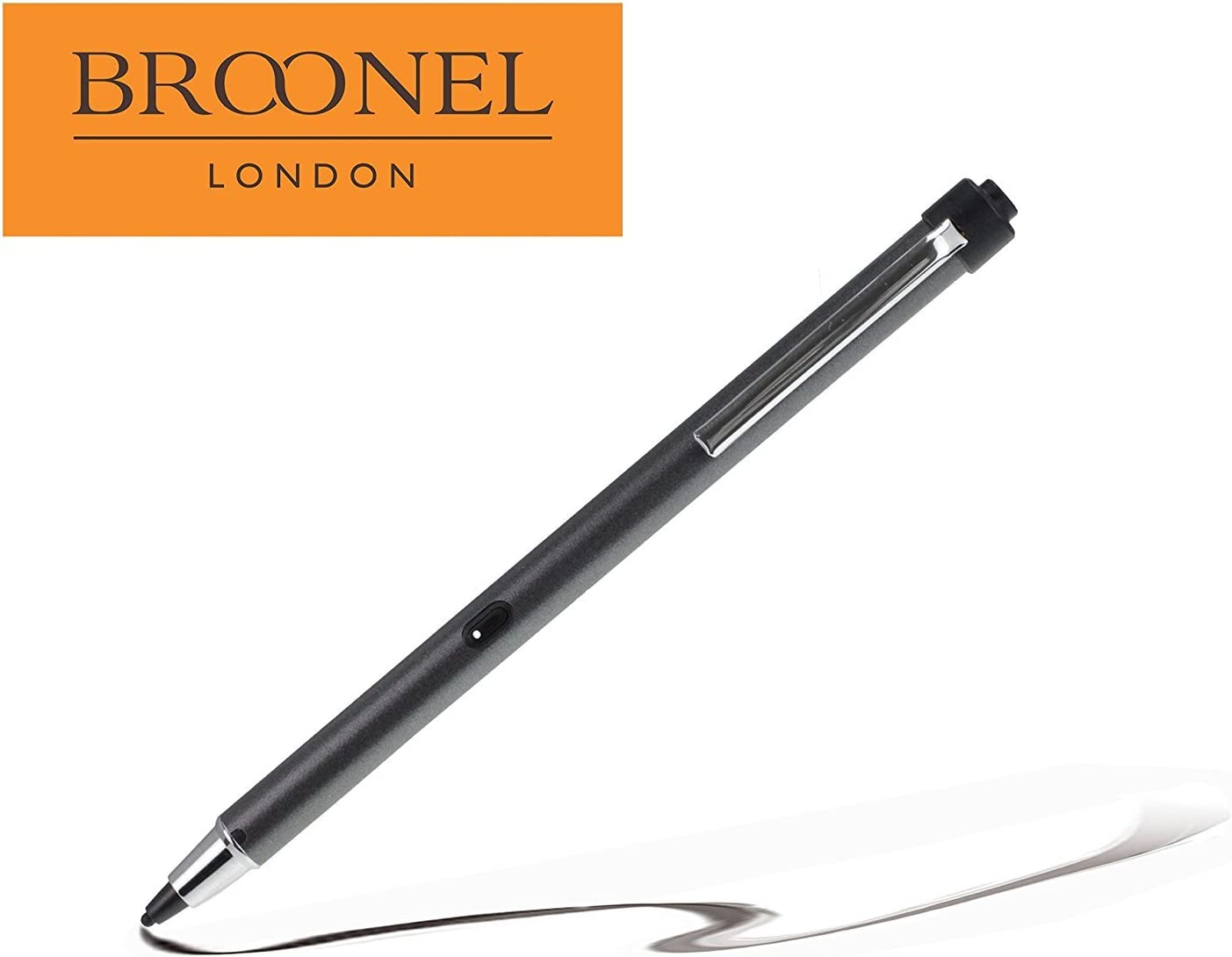Broonel Metallic Grey Rechargeable Fine Point Digital Stylus Compatible with The/ HP Slate 8 Pro HD