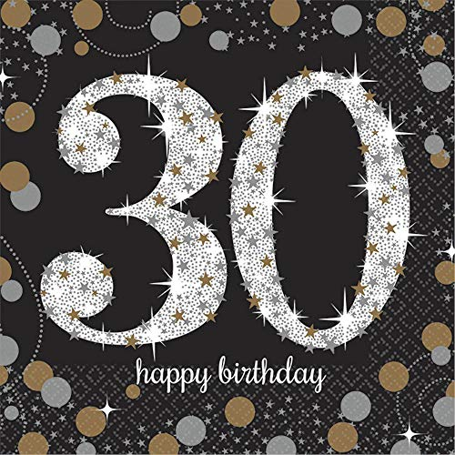 - Amscan 501544 Party Supplies Sparkling Celebration 30 Beverage Napkins, One Size, Multi Color