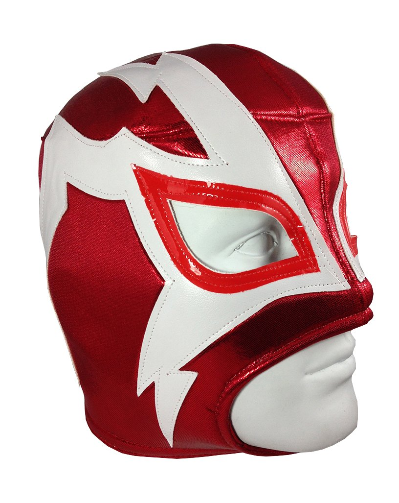 SHOCKER Adult Lucha Libre Wrestling Mask (pro-fit) Costume Wear - Red by Mask Maniac
